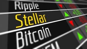 Crypto marché de changes stellaire illustration de vecteur