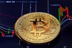 Crypto munt bitcoin stock foto's