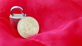 Crypto munt, bitcoin BTC, Beetjemuntstuk Blockchaintechnologie, bitcoin mijnbouw stock videobeelden