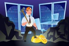 Crypto munt mijnbouw Concept Stock Foto