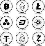 Crypto muntstukken Crypto munt royalty-vrije illustratie