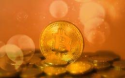 Crypto pièce de monnaie de devise de bitcoin énorme Images libres de droits