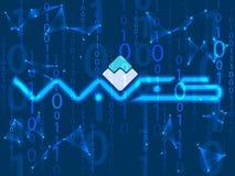 Crypto symbole monétaire illustration libre de droits