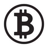 Crypto symbole monétaire Illustration de vecteur Image stock