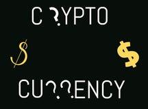 Crypto thème de devise illustration stock