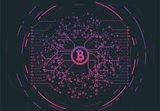 Crypto valutabegrepp Royaltyfri Bild
