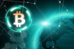 Crypto valutablockchainbegrepp royaltyfri fotografi