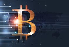 Crypto van het Bitcoinweb Geld Royalty-vrije Stock Afbeeldingen