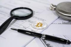 Crypto waluta abstrakta fotografia Obraz Stock