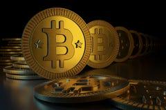 Crypto waluty bitcoin ilustracja wektor