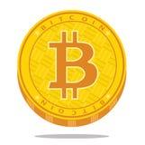 Crypto waluty bitcoin ikona również zwrócić corel ilustracji wektora Fotografia Stock