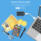 Crypto waluty bitcoin technologii pojęcie Fotografia Stock