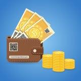 Crypto waluty bitcoin technologii pojęcie Zdjęcia Stock