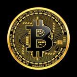 Crypto waluty bitcoin złoty symbol Zdjęcia Royalty Free