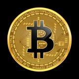 Crypto waluty bitcoin złoty symbol Obrazy Royalty Free