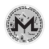 Crypto waluty monero czarny i biały symbol Zdjęcia Stock