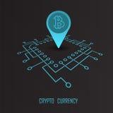 Crypto waluty monetarny pieniężny wektor Obraz Royalty Free