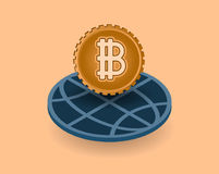 Crypto waluty monetarny pieniężny wektor Obraz Stock
