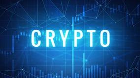 Crypto woord op futuristische hudbanner Royalty-vrije Stock Fotografie