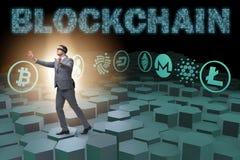 各种各样的cryptocurrencies和商人的概念 图库摄影