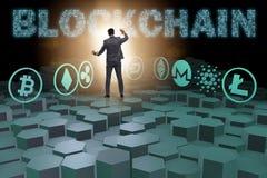 各种各样的cryptocurrencies和商人的概念 免版税库存图片