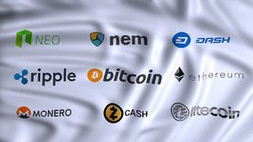 cryptocurrencies, digital and alternative currencies, using cryptography to secure the transactions payment on a decentralized royalty free stock photos