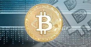 Cryptocurrencies o concetto del bitcoin Fotografia Stock Libera da Diritti