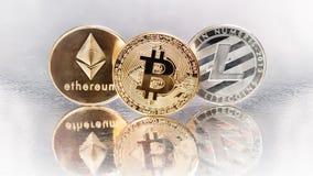 Cryptocurrencies stock image