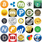 Cryptocurrencies Royalty Free Stock Image