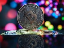 Cryptocurrencies van het Bitcoin virtuele geld royalty-vrije stock afbeelding