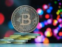 Cryptocurrencies van het Bitcoin virtuele geld royalty-vrije stock foto's