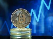 Cryptocurrencies van het Bitcoin virtuele geld royalty-vrije stock fotografie