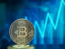 Cryptocurrencies van het Bitcoin virtuele geld stock foto