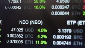 Cryptocurrencies wekslowi tempa Cryptocurrency handel tropi zakończenie up zbiory wideo