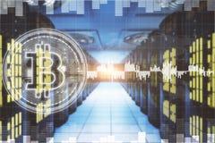 Cryptocurrency和互联网概念 库存照片