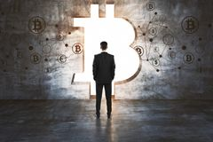 Cryptocurrency和未来概念 免版税库存照片