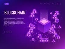 cryptocurrency和blockchain概念 开采的bitcoins的农场 免版税库存照片