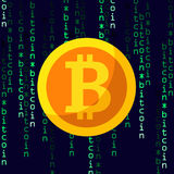 Cryptocurrency平的象, bitcoin标志 免版税库存图片