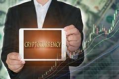 Cryptocurrency概念 图库摄影