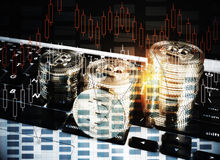 Cryptocurrency概念 库存照片