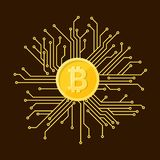 cryptocurrency的标志 库存照片