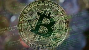 Cryptocurrency采矿概念 股票录像