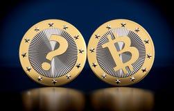 Cryptocurrency - är vad det nästa STORA tinget efter Bitcoin?? Arkivfoton