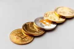 Cryptocurrency è un bene digitale destinato per lavorare come medium fotografie stock libere da diritti