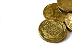 Cryptocurrency монеток изолированное на белой предпосылке стоковое изображение rf