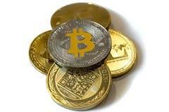 Cryptocurrency монеток изолированное на белой предпосылке стоковые изображения rf
