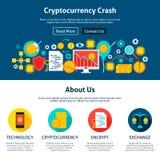 Cryptocurrency-Abbruchs-Website-Design Stockbild