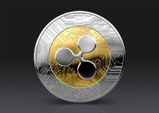 Cryptocurrency badania lekarskiego moneta ilustracja wektor