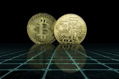 Cryptocurrency Bedrijfsconcept stock foto's