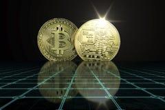 Cryptocurrency Bedrijfsconcept stock afbeeldingen